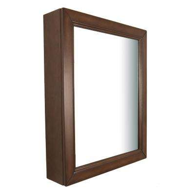 Inglewood 24 in. W x 30 in. L  Wood Surface-Mount Mirrored Medicine Cabinet in Sable Walnut