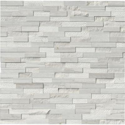 White Oak Split Face Ledger Panel 6 in. x 24 in. Multi-Finish Marble Wall Tile (10 cases / 60 sq. ft. / pallet)