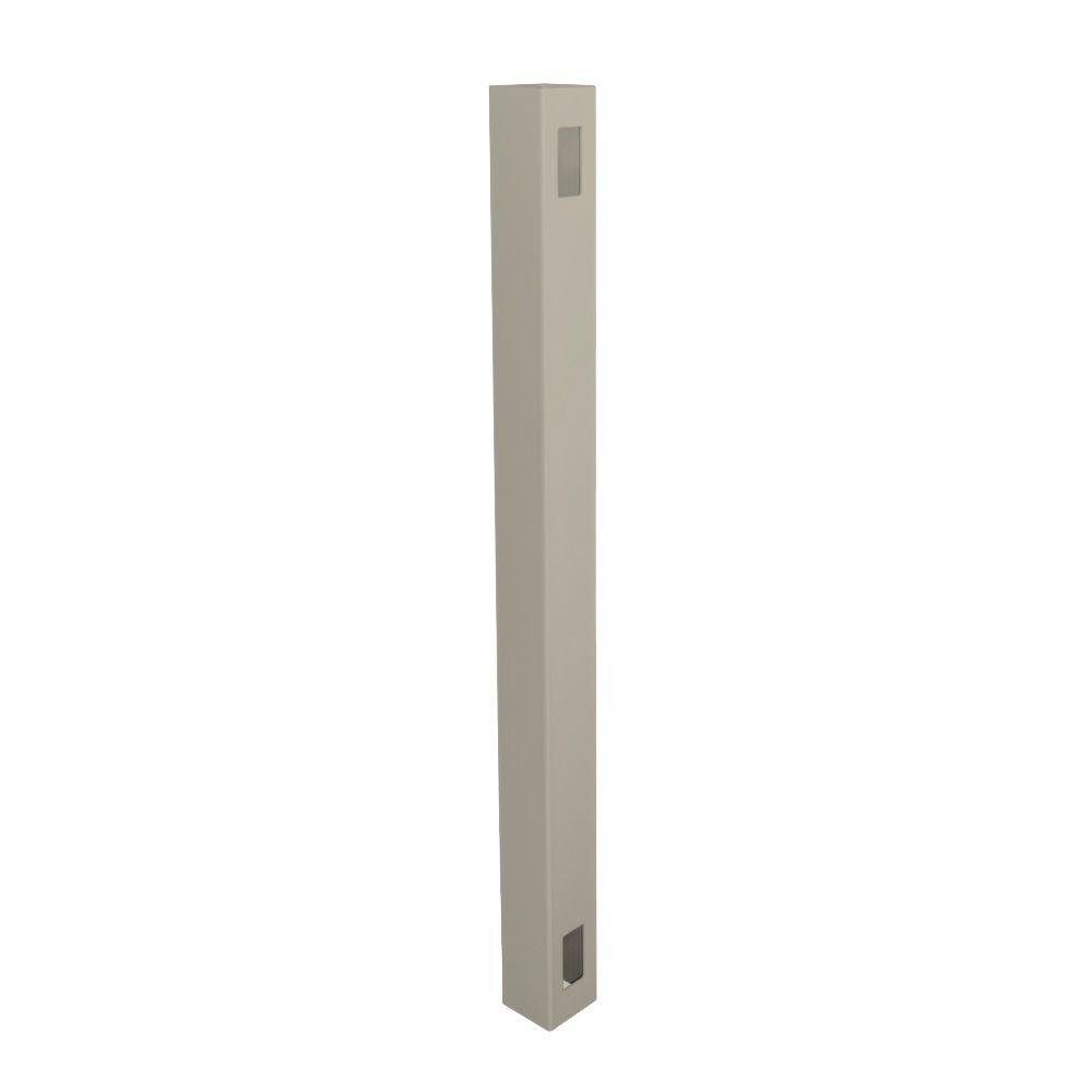 Weatherables 5 in. x 5 in. x 10 ft. Khaki Vinyl Fence End Post