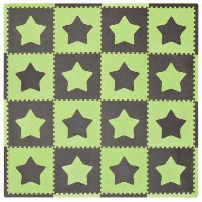 "Green/Brown Stars 50"" x 50"" Residential Playmat"