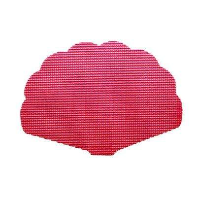 Pink Yarrow Fishnet Shell Placemat (Set of 12)