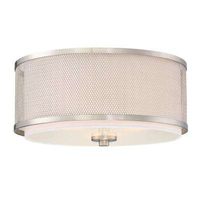 3-Light Brushed Nickel Flushmount