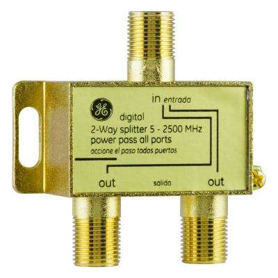 Pro Digital 2-Way Coaxial Splitter