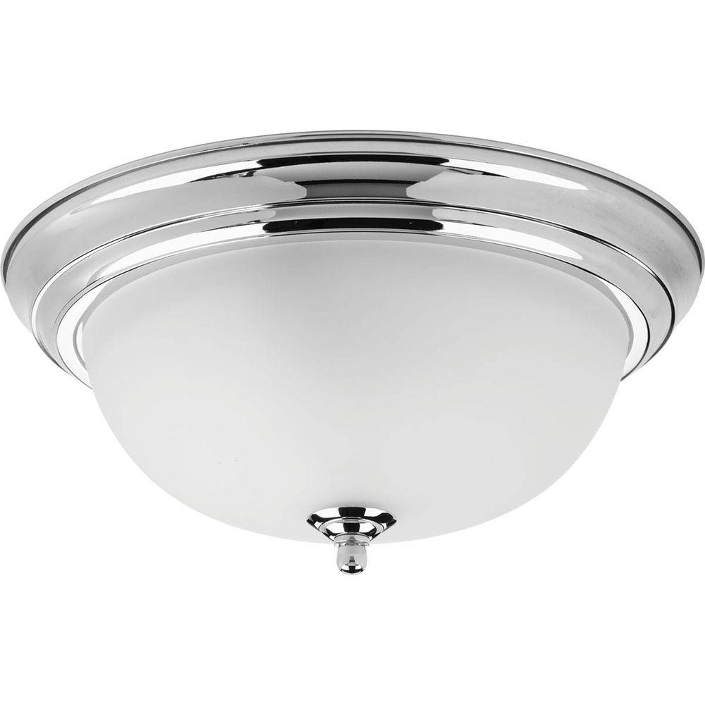 progress lighting dome glass collection 2-light polished chrome
