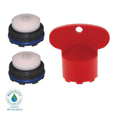 1.2 GPM Junior Size PCA Cache Water-Saving Aerator with Key (2-Pack)