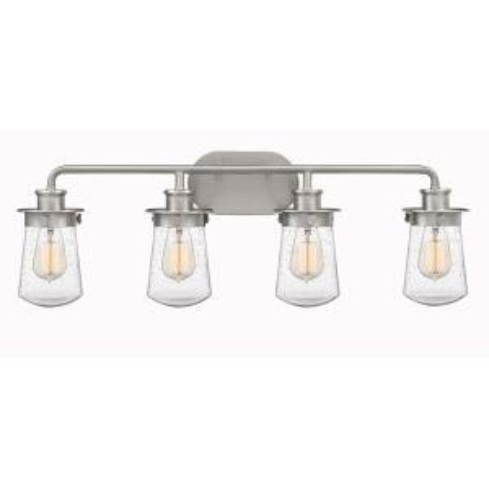 Lewiston 4-Light Brushed Nickel Vanity Light