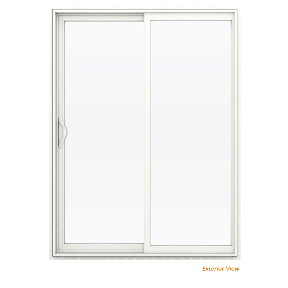 60 in. x 80 in. V-2500 White Vinyl Left-Hand Full Lite