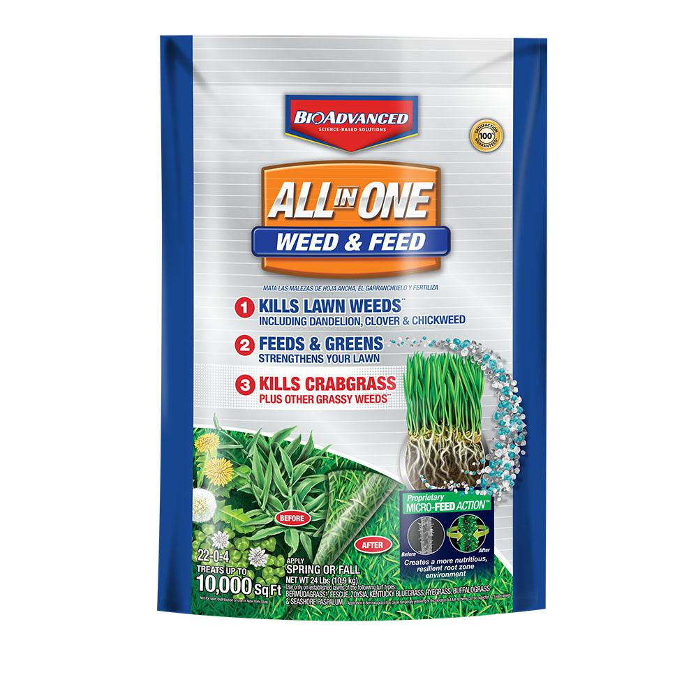 BioAdvanced 24 lbs. All-in-1 Weed and Feed Granules