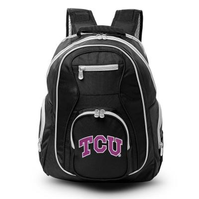 NCAA Texas Christian University Horned Frogs 19 in. Black Trim Color Laptop Backpack