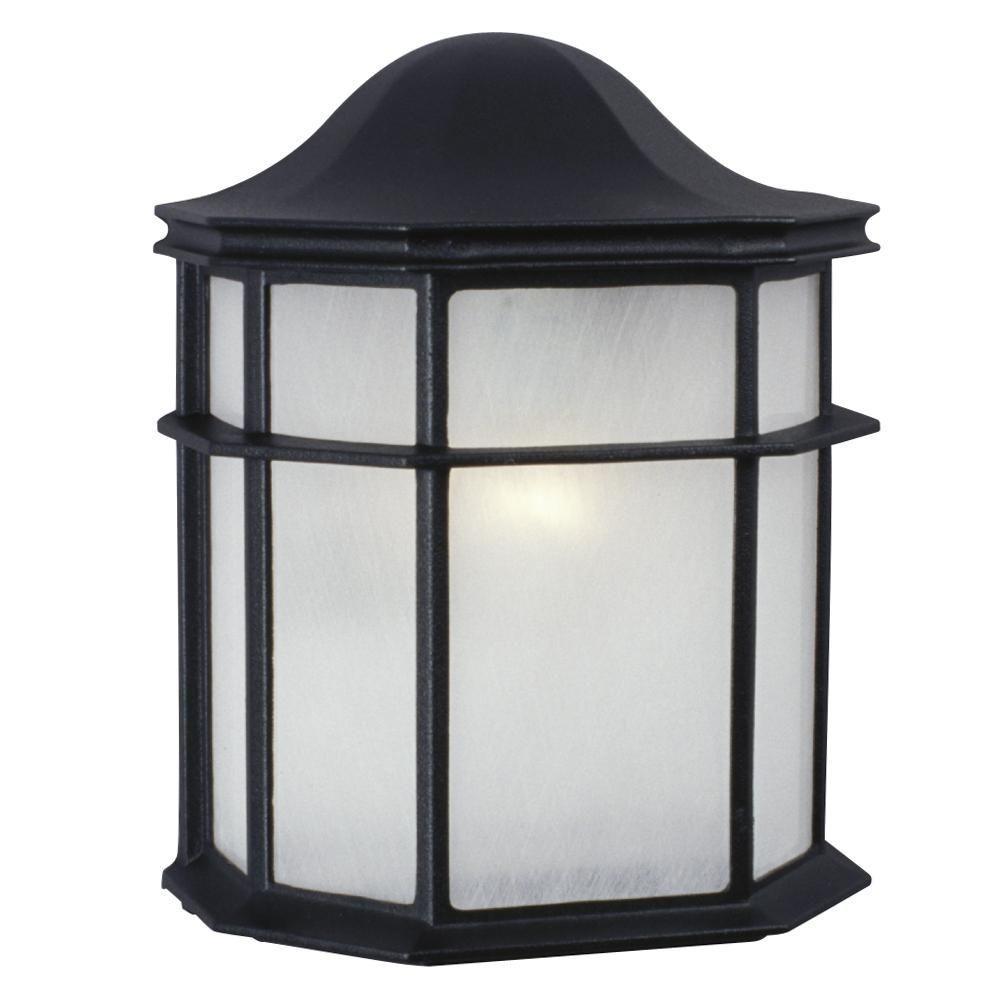 Filament Design Negron 2-Light Black Outdoor Sconce