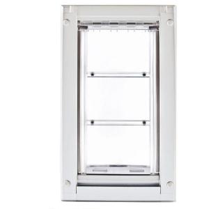 Endura Flap 18 In. L X 10 In. W Large Double Flap For Doors With White  Aluminum Frame 03PP10 2   The Home Depot