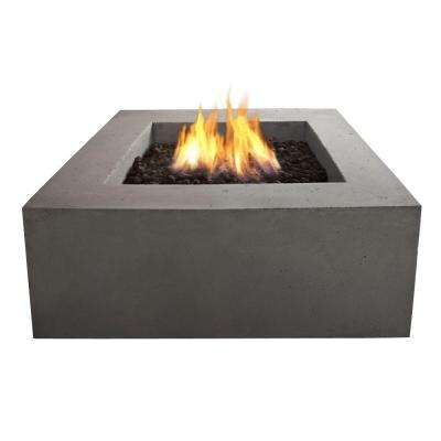 Baltic 36 in. Square Natural Gas Outdoor Fire Pit in Glacier Gray
