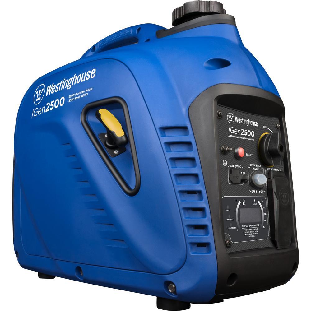 iGen 2,200/2,500-Watt Gasoline Powered Portable Gas Inverter Generator with Parallel Capabilities