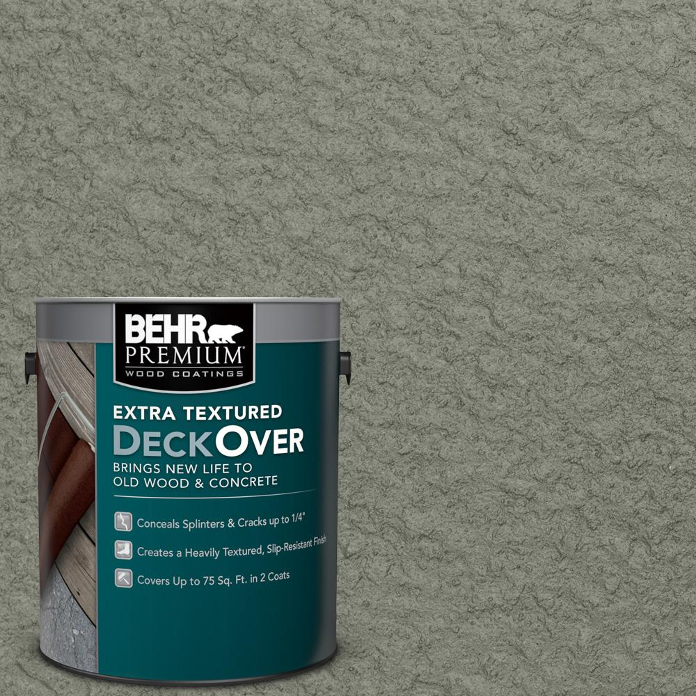 1 gal. #SC-137 Drift Gray Extra Textured Solid Color Exterior Wood