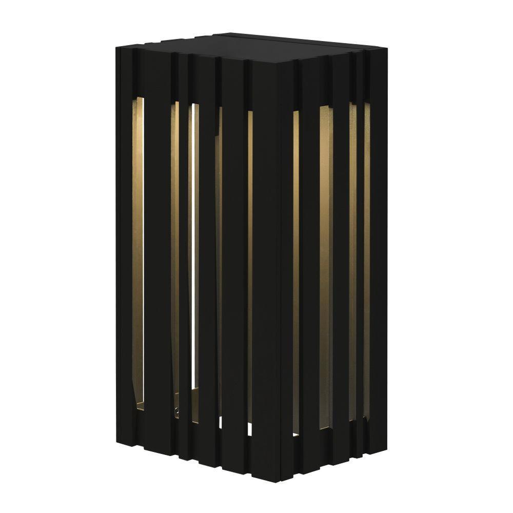 LBL Lighting Uptown 1-Light Black Outdoor Small LED Wall Light