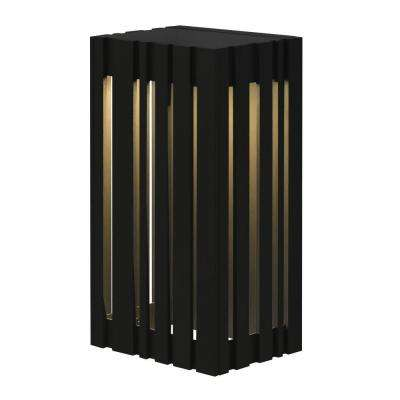 Uptown 1-Light Black Outdoor Small LED Wall Light