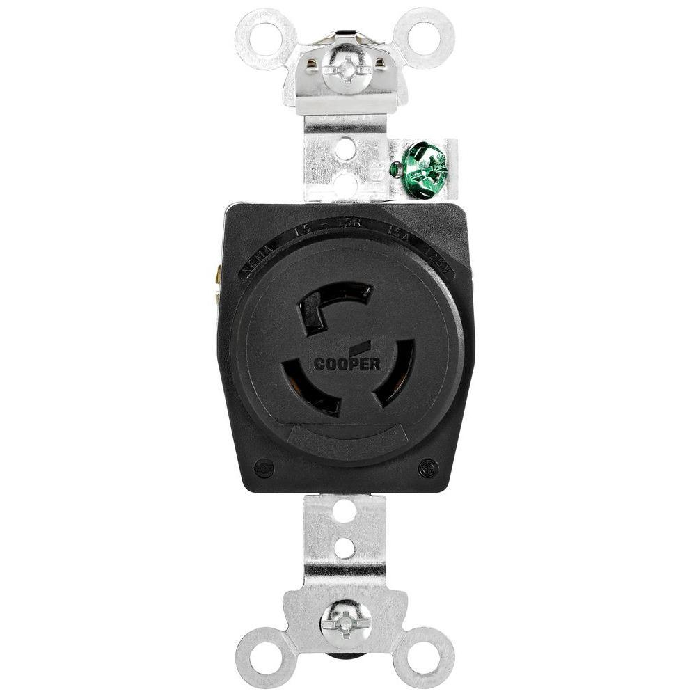 15 Amp 125-Volt L5-15 Industrial Receptacle