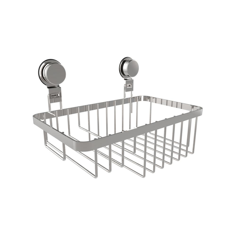 Lavish Home Hanging Wall Mounted Shower Caddy with Twist Lock ...