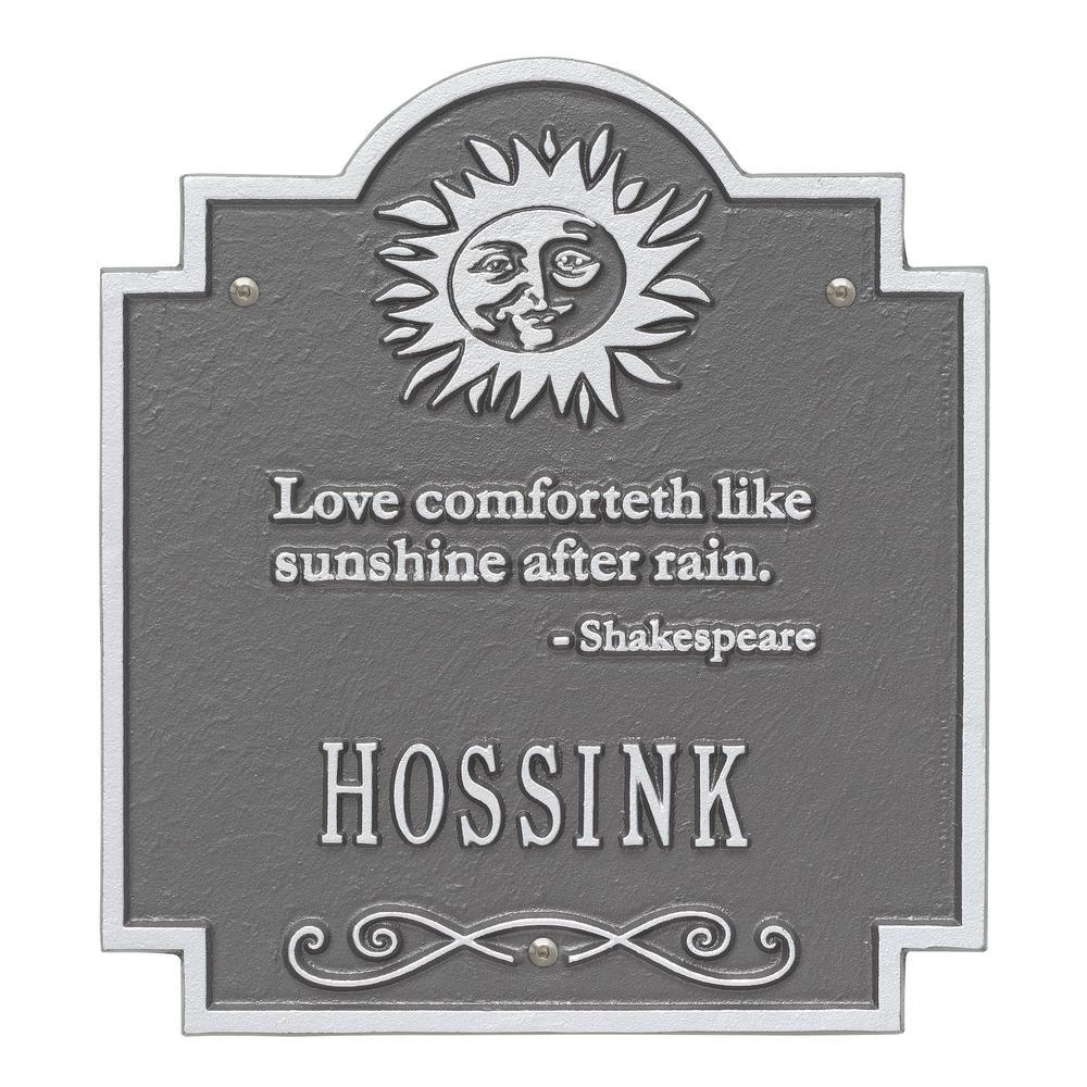 Sun Poem Personalized Plaque