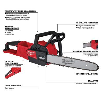 M18 FUEL 16 in.  18-Volt Lithium-Ion Brushless Cordless Chainsaw (Tool-Only)
