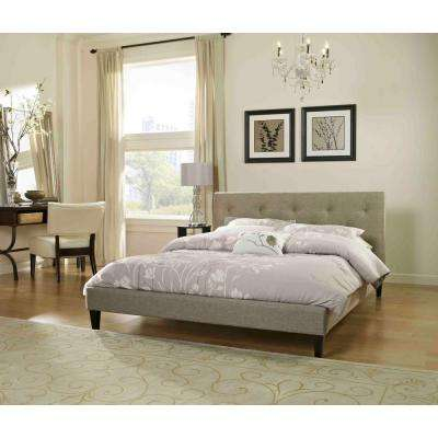 Brentwood Taupe Queen Upholstered Bed
