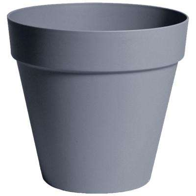 Rio 10.25 in. Dia White Plastic Planter