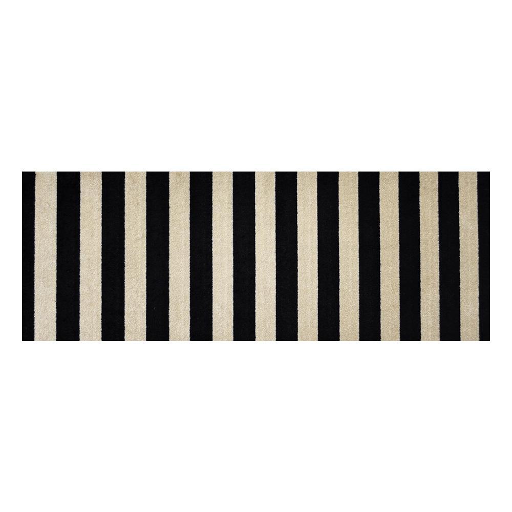 In-Home Washable/Non-Slip Farm House Stripes 2 ft. 3 in. x 6 ft. 3 in. Runner Rug