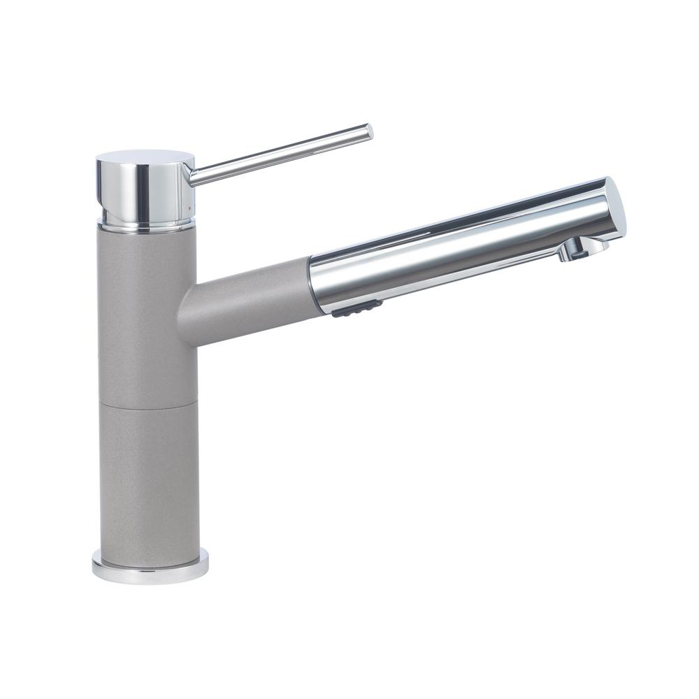 This Review Is From:Alta Compact Single Handle Pull Out Sprayer Kitchen  Faucet With 1.8 GPM In Truffle And Chrome Mix