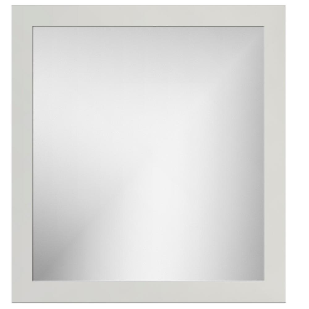 30 in. W x .75 in. D x 32 in. Framed Mirror Square Dewy Morning
