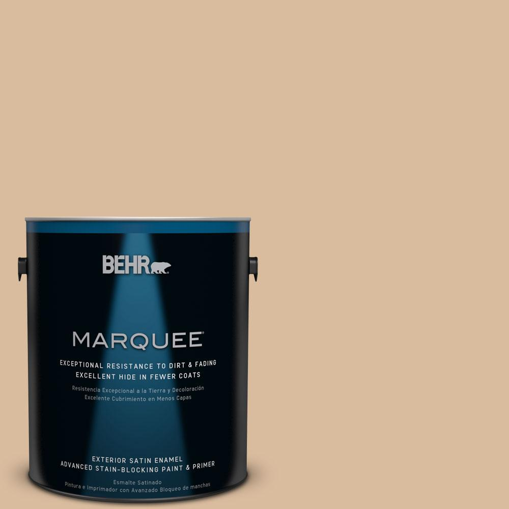 BEHR MARQUEE 1-gal. #BXC-40 Soft Wheat Satin Enamel Exterior Paint