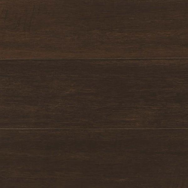Hand Scraped Wire Brushed Strand Woven Chai 1/2 in. T x 5-1/8 in. W x 72 in. L Solid Bamboo Flooring