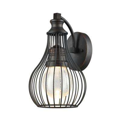 Osage Weathered Charcoal Outdoor LED Wall Sconce