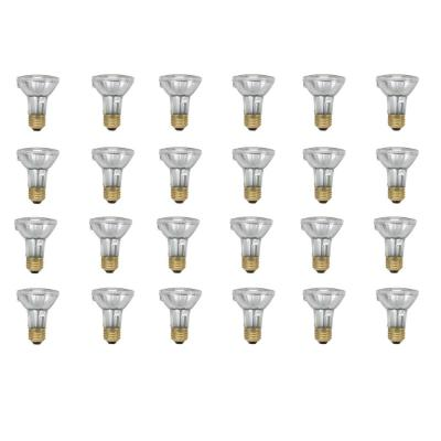 50-Watt PAR20 Equivalent Halogen Indoor/Outdoor Flood Light Bulb (24-Pack)