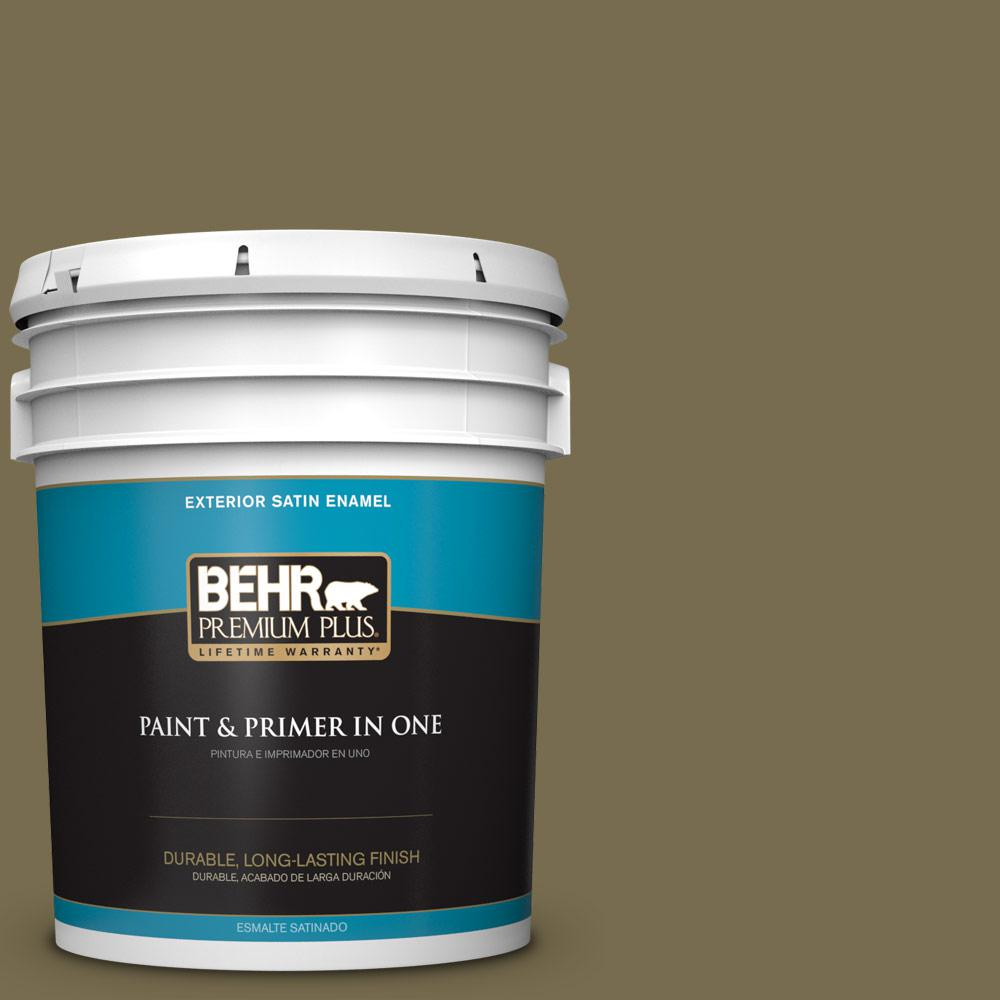 5 gal. #PPU8-01 Olive Satin Enamel Exterior Paint