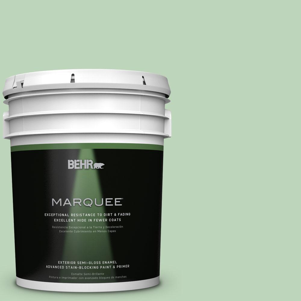 5-gal. #M400-3 Bok Choy Semi-Gloss Enamel Exterior Paint