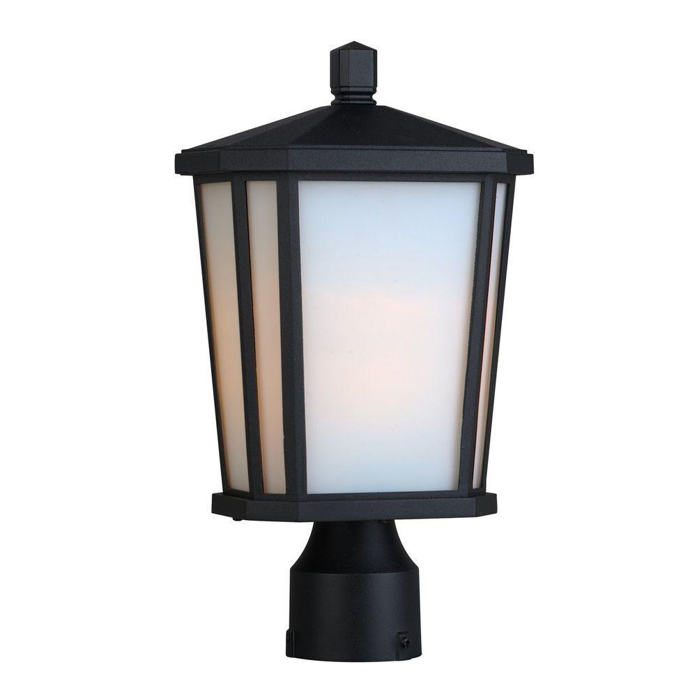 Rostovdon 1-Light Outdoor Rich Black Post Light