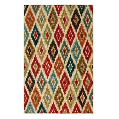 Carnival Ikat Salsa 7 ft. 6 in. x 10 ft. Area Rug