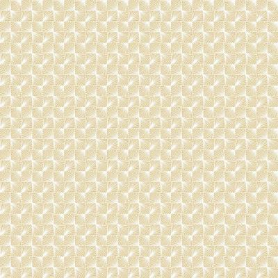 56.4 sq. ft. Stockholm Gold Geometric Wallpaper