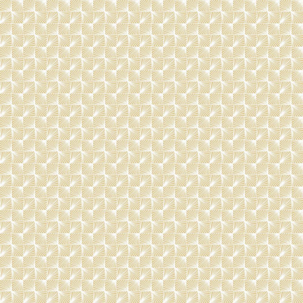 56.4 sq. ft. Stockholm Gold Geometric Wallpaper