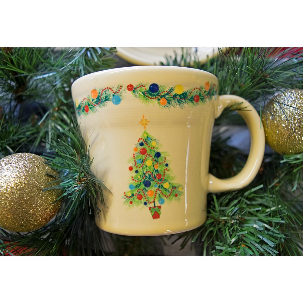 Fiesta 15 Oz Ivory Ceramic Christmas Tree Tapered Mug 14759051u The Home Depot