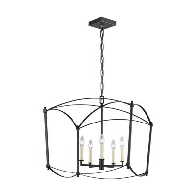 Thayer 5-Light Smith Steel Chandelier