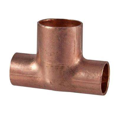 1/2 in. x 1/2 in. x 3/4 in. Copper Pressure Cup x Cup x Cup Tee
