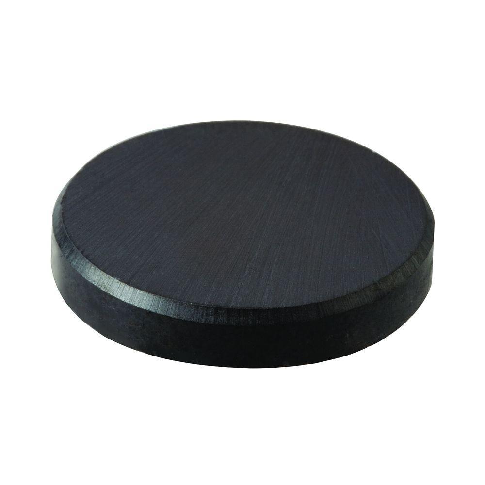 1 in. Diameter Black Disc Magnet (4-Piece)