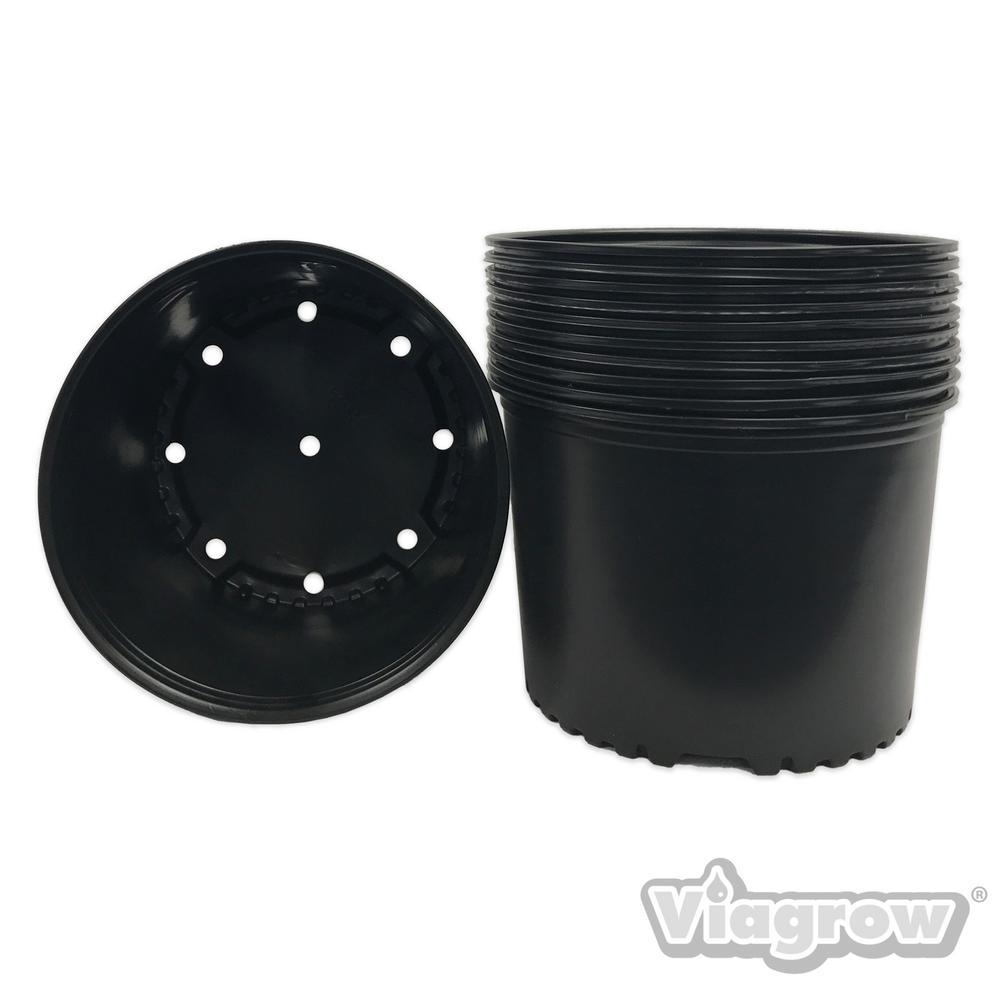 Viagrow 3 Gal Nursery Pots Short Style 10 Pack