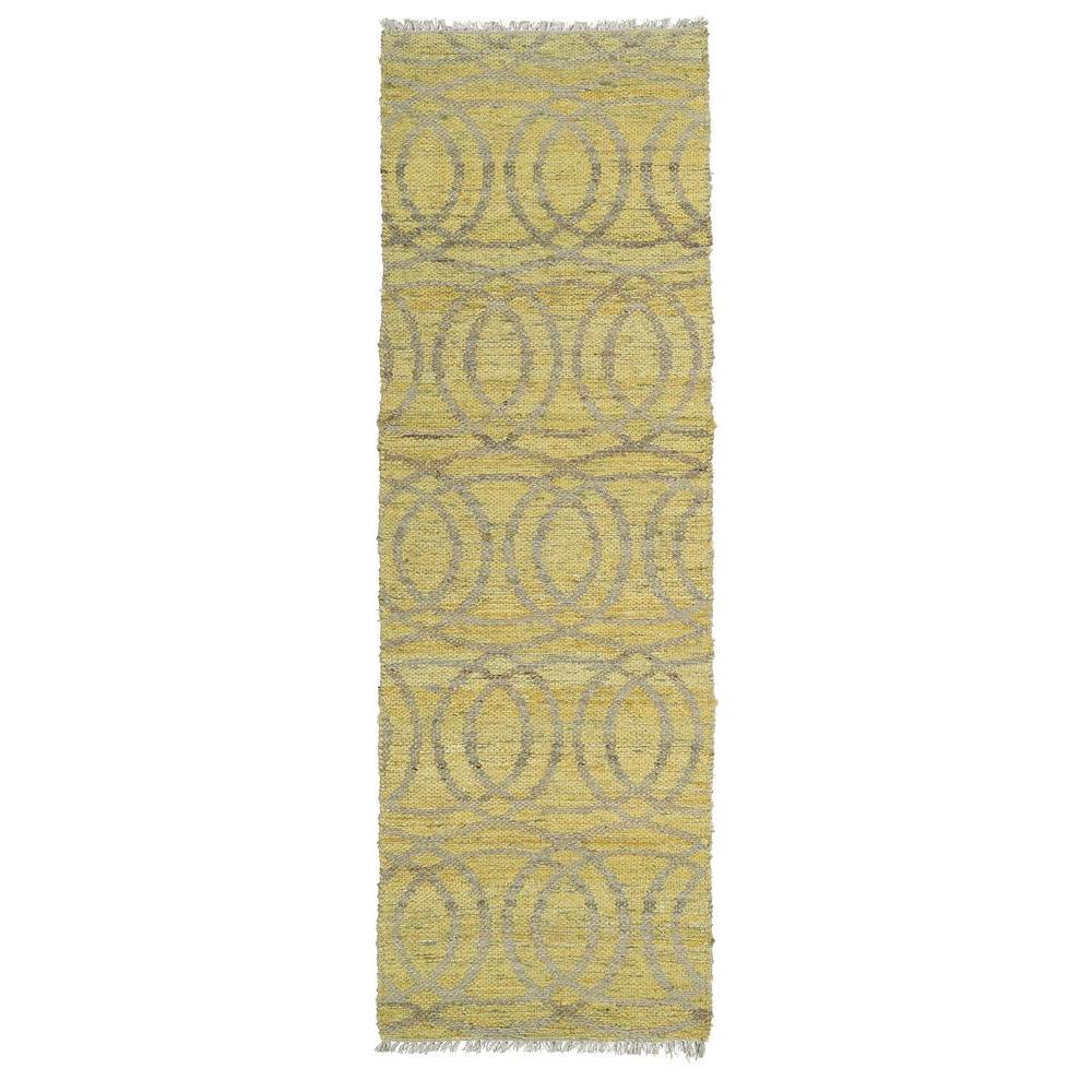 Kaleen Kenwood Yellow 2 ft. 6 in. x 8 ft. Double Sided Runner