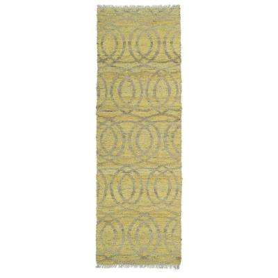 Kenwood Yellow 2 ft. x 6 ft. Double Sided Runner Rug