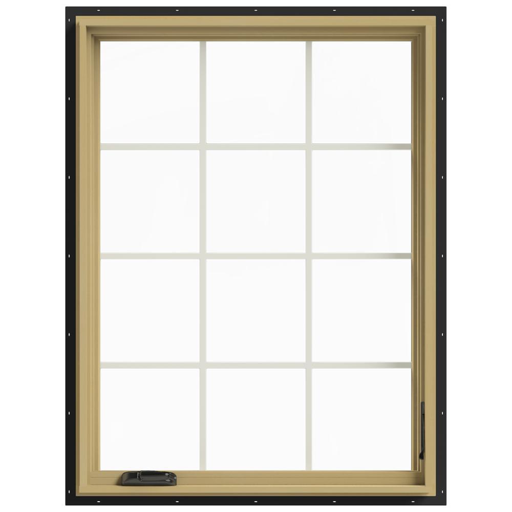 36 in. x 48 in. W-2500 Right-Hand Casement Aluminum Clad Wood
