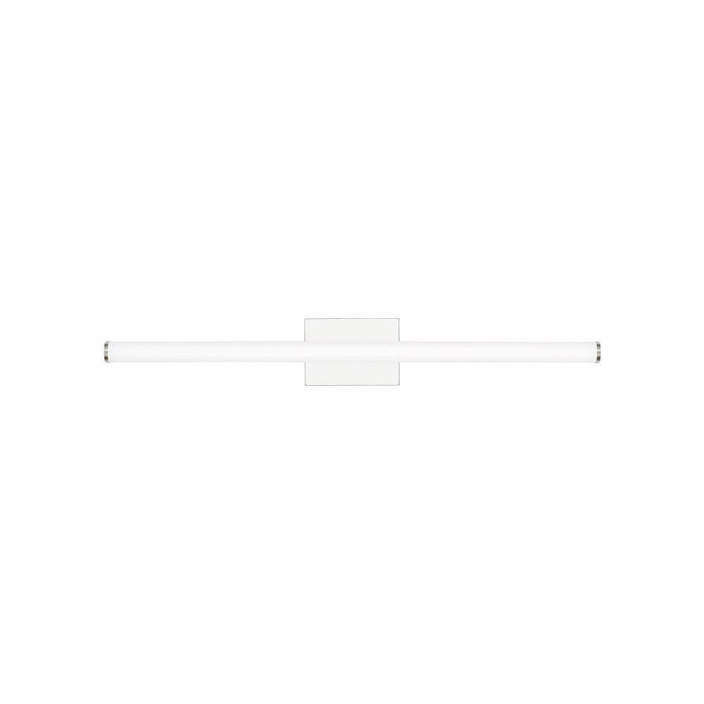 LBL Lighting Lufe Round 36 Bath 34.5-Watt Polished Chrome Integrated LED Bath Light