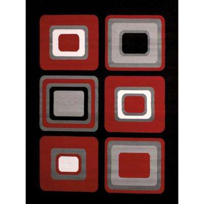 Spaces Red 5 ft. x 7 ft. Indoor Area Rug