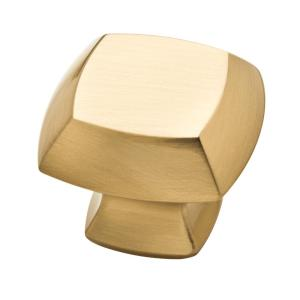Mandara 1-1/4 in. (32mm) Champagne Bronze Square Cabinet Knob